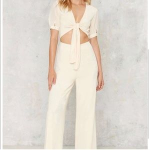 Nasty Gal Tie N Fly Cutout Jumpsuit.